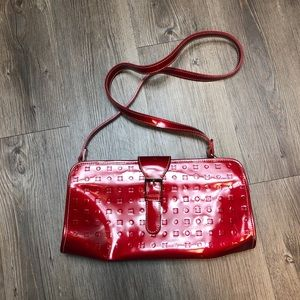 Arcadia Red Leather Crossbody/Clutch